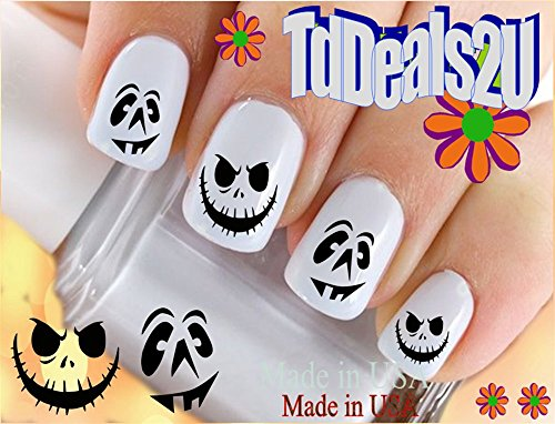 Holiday Halloween - Smiley Pumpkin Face #2 WaterSlide Nail Art Decals - Highest Quality! Made in -
