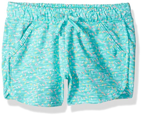 Gymboree Toddler Girls' Drawstring Dolphin Hem Lounge Short, Spearmint Sprinkles, 2T by Gymboree