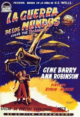 Vintage movie advert poster reproduction. War of the Worlds 1953