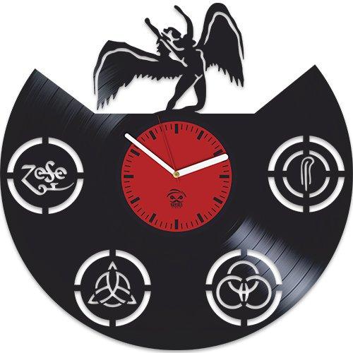 Kovides Led Zeppelin Rock Band, Music Fans Modern Art, Vinyl Record Best Gift For Dad Mom Girlfriend Boy Girl Vinyl Wall Clock Home Decoration Living Room Inspirational, Vinyl Wall Clock ()