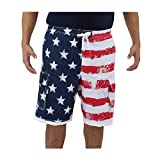 Size Large (32-34 in.) American Flag Board Shorts