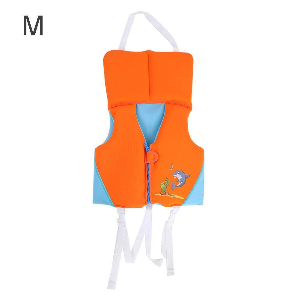 子供用ライフベスト 子供用スイムベスト フォラットジャケット 丈夫な子供用ライフセービングベスト 子供用ライフジャケット カヤックプール ビーチ水泳アクセサリー (オレンジ) Medium  B07JZW7Q8K