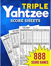 Triple Yahtzee Score Sheets: 888 Pads for Scorekeeping - Triple Yahtzee Score Cards | Triple Yahtzee Score Pads with Size 8.5 x 11 inches