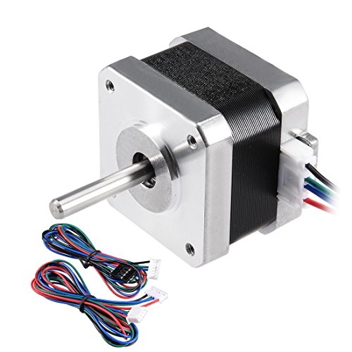 uxcell Stepper Motor Nema 17 Bipolar 28mm 0.22NM 1.4A 4.7V 4 Lead Cables for 3D Printer CNC Router Laser Lathe Machine Stage Light Control DIY Hobby