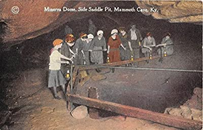 Mammoth Cave Kentucky Minerva Dome Side Saddle Pit Antique Postcard J6135
