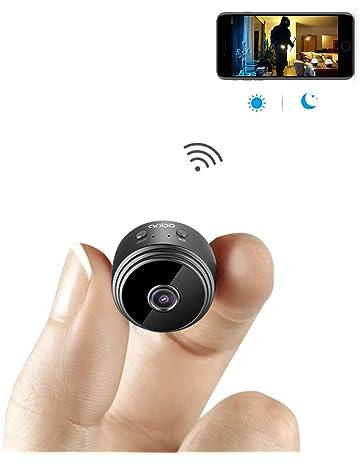 Mini Microcamere Spia AOBO 1080P HD Bottone Nascosta Telecamera WiFi IP  Wireless Rilevamento di Movimento Portatile aa2159f393f2