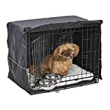 MidWest Homes for Pets Small Dog Crate Starter Kit | One 2-Door iCrate, Pet Bed, Crate Cover & 2 Pet Bowls | 24-Inch Ideal for Small Dog Breeds