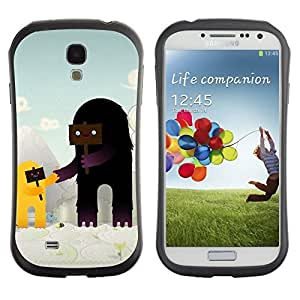 Hybrid Anti-Shock Bumper Case for Samsung Galaxy S4 / Cute Characters
