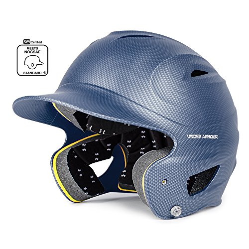 Under Armour Classic Carbon Tech Batting Helmet, Navy Blue, Adult (12+) ()