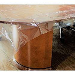 "Exquisite Heavy Duty Waterproof Plastic Table Cover, Crystal Clear Pvc Tablecloth Protector (60"" (Round)"