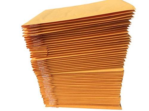 AZ-Cover #000 4x8 KRAFT BUBBLE MAILERS PADDED ENVELOPES 4 x 8, Pack of 50 - Envelopes 50 Pack