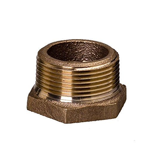 Everflow BRBU1003-NL 1 Inch Male NPT X 3/4 Inch Female NPT Brass Lead Free Bushing, Fitting with Hexagonal Head, Brass Construction, Higher Corrosion Resistance Economical & Easy to Install