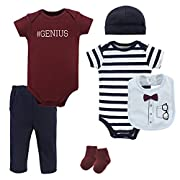 Little Treasure Baby 6 Piece Clothing Set, Glasses, 3-6 Months