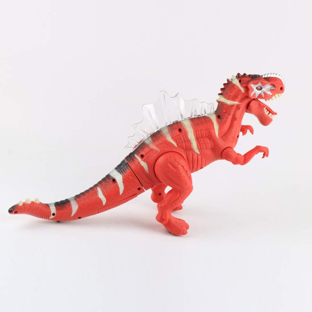 GIKMHYB Modello di Simulazione di Dinosauro Giocattolo per Bambini Modello di Dinosauro A Piedi Elettrico