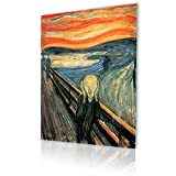 """Alonline Art - The Scream Edvard Munch PRINT On CANVAS (Synthetic, UNFRAMED Unmounted) 12""""x16"""" - 30x41cm Oil Paintings Prints Canvas For Living Room Artwork Wall Art Pictures Canvas For Kitchen"""