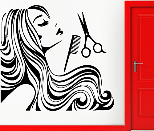 Wall Stickers Vinyl Decal Hair Beauty Spa Decor Barbershop Haircuttery (z2331i)