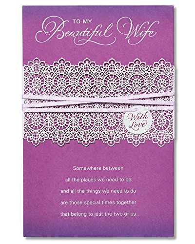 Beautiful Wife Mother's Day Card with Ribbon