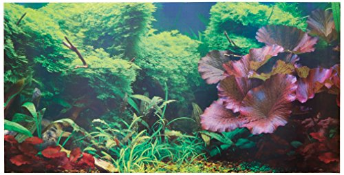 SPORN Aquarium Background, Static Cling, Tropical 36
