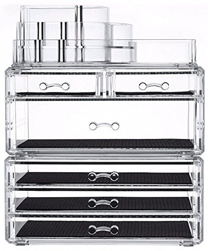 Large Makeup Cosmetics Jewelry Storage Box Rack Holder Multiple Drawer Case Display Organizer Cabinet Multifunction Stackable Detachable Removable Unit Acrylic - Macys South Hills