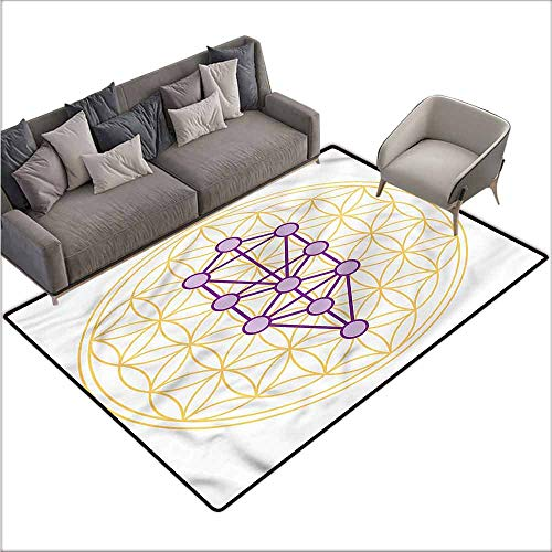 """Kitchen Mat Sacred Geometry,Geometric Shapes 80""""x 96"""",Rugs for Sale"""