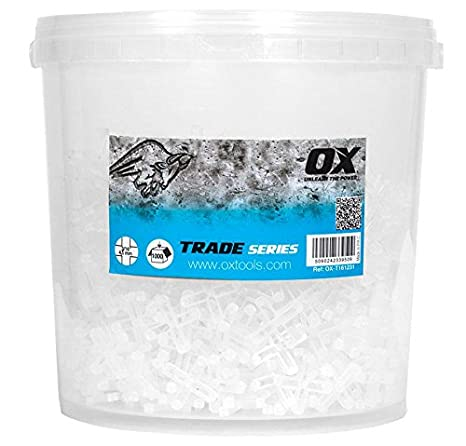 OX Tools OX-T161220 OX Trade 1//8 Hard Plastic Spacers Cross Pack of 500