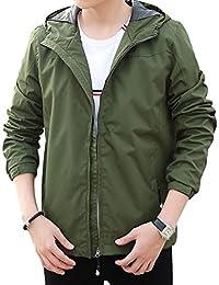 """<span class=""""a-offscreen"""">[Sponsored]</span>Men's Waterproof Lightweight Jacket Rain Coat Windproof Skin Hooded Jacket"""