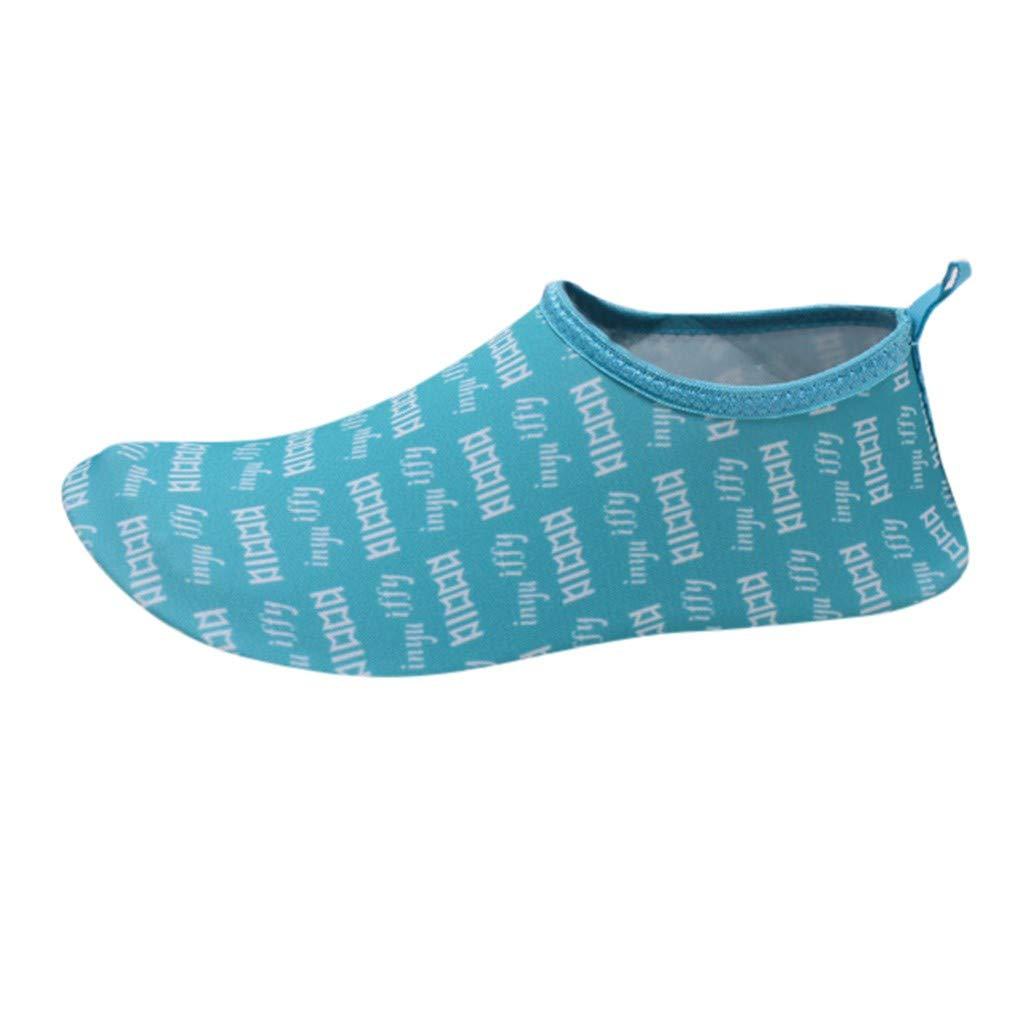 Chaussures ADESHOP Unisexe Chaussures De Plage Sports Nautiques Chaussures d'eau Unisexes Chaussettes De Yoga Pieds Nus PlongéE Barefoot Chic Imprimé Confortable AntidéRapant Chaussures De Natation