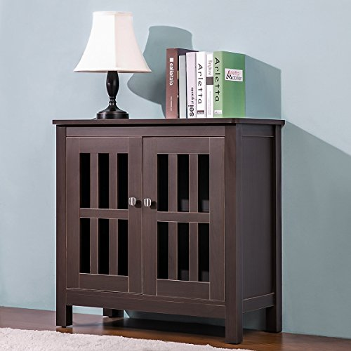 Harper&Bright Designs Accent Storage Cabinet Free Standing with Double Doors and 2 Shelves by Harper&Bright Designs
