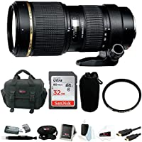 Tamron AF 70-200mm f/2.8 Di LD IF Macro Lens with Built in Motor for Nikon Digital SLR Cameras (Model A001NII) with Sony 32GB Deluxe Accessory Kit