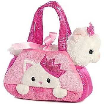 1c54c76847c Amazon.com: Aurora World Fancy Pals Plush Princess Kitten Purse Pet ...