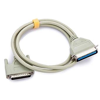 Cable de impresora DB25 macho a CN36 macho, cable de ...