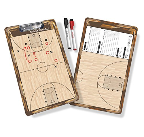 GoSports Basketball Dry Erase Coaches Board with 2 Dry Erase ()