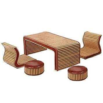 Natürlichen bambus - rattan wicker schreibtisch und stuhl set ...