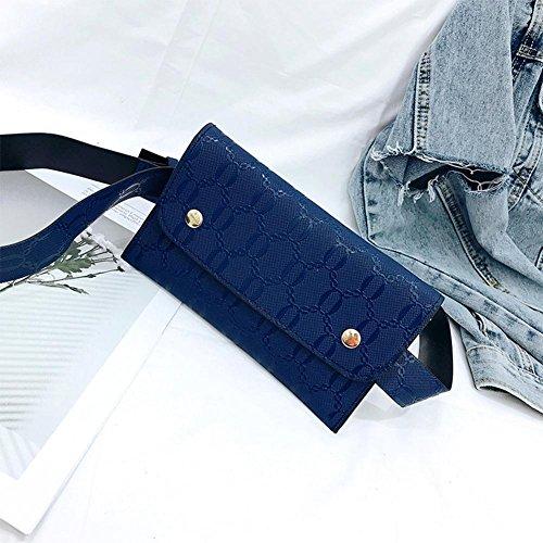 Women Waist Phone Domybest Leather PU Blue Flap Fanny Belt Small Bags Chest Handbags Pack 16Yx6w