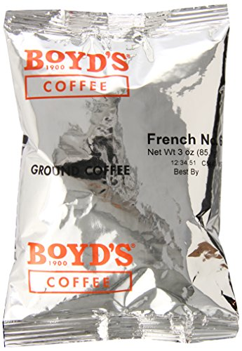 Boyd's Coffee Ground Coffee, French No. 6, Dark Roast , 3-Ounce Portion Packs (Pack of 40) by Boyds Coffee