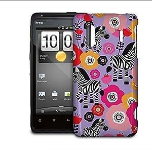 Phone Case For HTC Evo Design 4G / Hero 4G - Zebra Blossoms Purple Protective Back