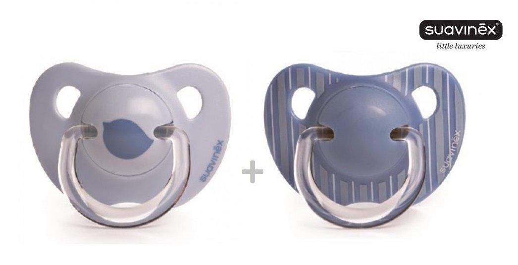 Suavinex Liberty No. 3800176 - 2 x Chupete Anatómico Silicon/azul (6 ...