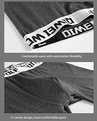 XGDong Men's Thermal Underwear Set Fleece Lined Long Johns Winter Base Layer Top & Bottom Set Charcoal