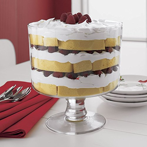 Attractive Trifle Bowl, Footed Glass Centerpiece, Trifle Cake Fruit Dessert Dish by Le'raze (Image #3)