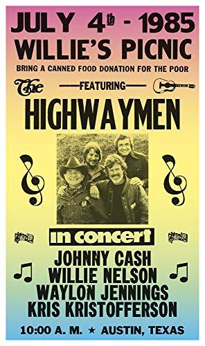 - Per Diem Printing The Highwaymen - Willie Nelson - Waylon Jennings - Johnny Cash - Kris Kristofferson - 13