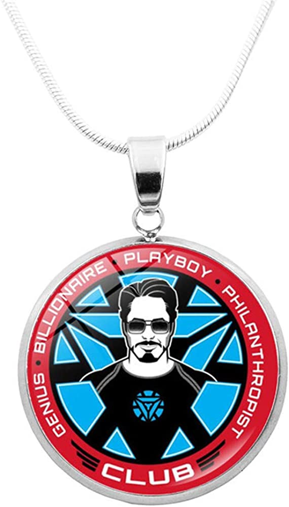 WooMaxX Retro Avengers Jewelry Pendant Necklace Super Hero Cosplay Pendant Necklace for Men Boy Hip Hop Necklace Bulk Gift