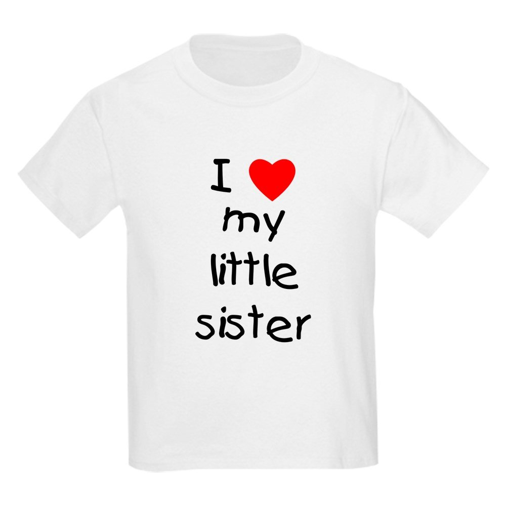 CafePress - I Love My Little Sister - Youth Kids Cotton T-shirt