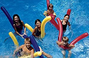 Inflatable pool doodle noodles pack of 6 toys - Amazon inflatable swimming pool toys ...