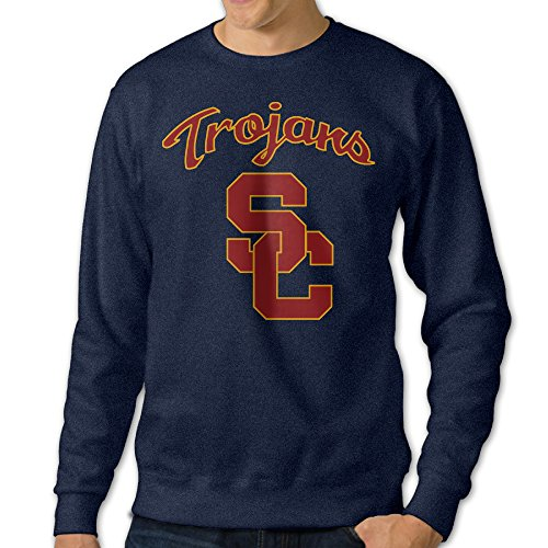 Custom Mascot Costumes California (AcFun Men's Custom University Of Southern California Crewneck Sweater Size S Navy)