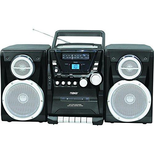 Naxa Portable CD Player with AM/FM Stereo Radio Cassette ...