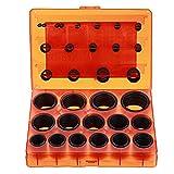 Sorliva O-Ring Assortment,382 Pcs Metric Set Universal Black Rubber O-Rings for Plumbing/Automotive/General Repair