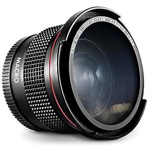 52MM 0.35x Altura Photo HD Fisheye Wide Angle Lens (w/ Macro Portion) for Nikon D7100 D7000 D5500 D5300 D5200 D5100 D3300 D3200 D3100 D3000 DSLR Cameras