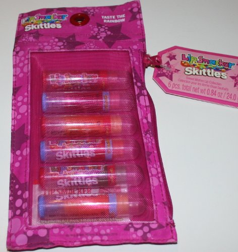 Lip Smackers Skittles Flavored Lip Balm - 6 Pack - Gift Packed