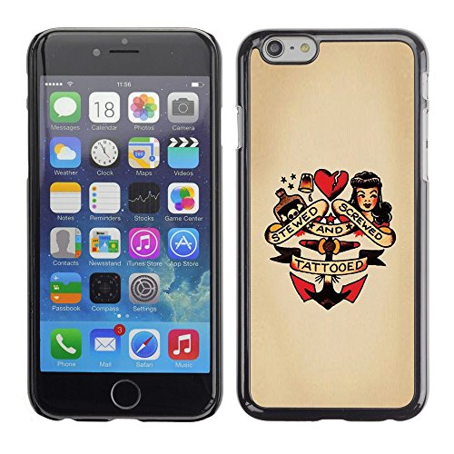 For Apple Iphone 6 Plus / 6S Plus ( 5.5 ) Case , Pin Up Heart Doll Anchor Woman Tattoo - Colorful Pattern Hard Back Snap-On Cover Case Skin Mobile Phone Shell (Pin Up Dolls Tattoos)