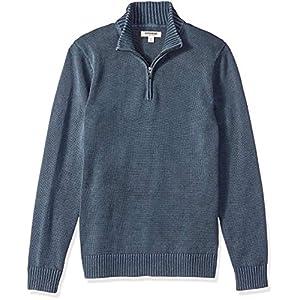 Marchio Amazon – Goodthreads, maglione da uomo, in morbido cotone, con cerniera 1/4